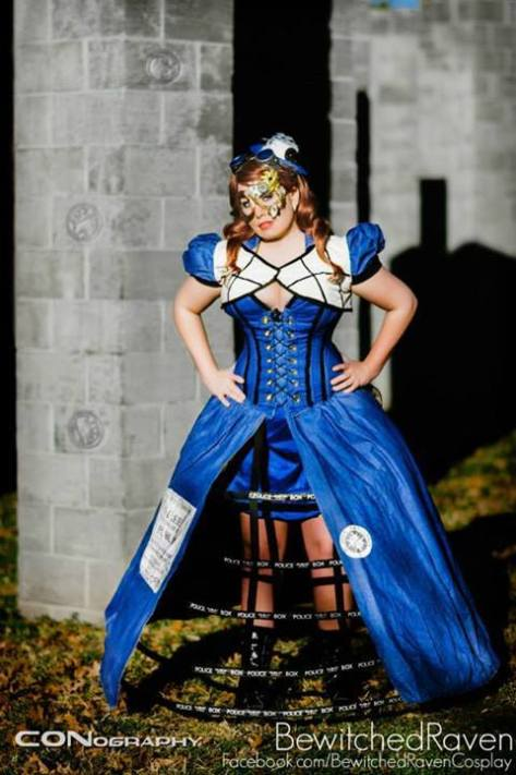 Cosplayer: BewitchedRaven's Cosplay Character: The Tardis (Steampunk Version) Photographer: CONography