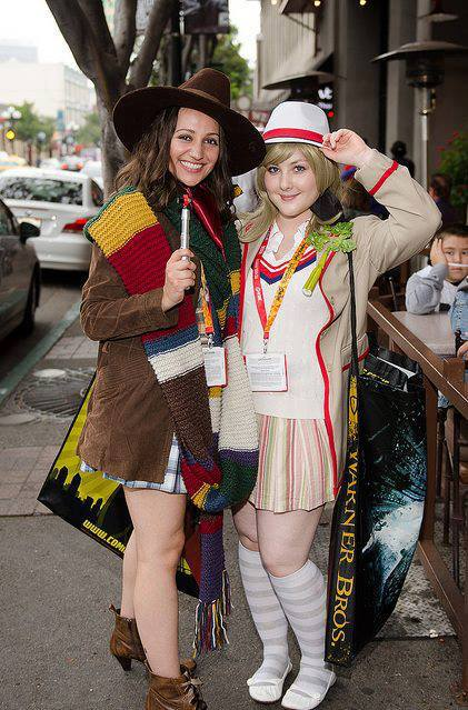 Cosplayers: Amanda Link and Amy Brown Characters: Fourth and Fifth Doctors