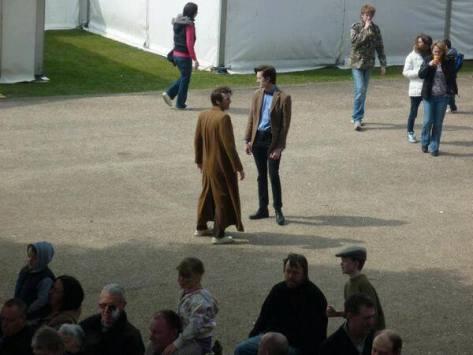 Matt Holden and Matt Elliott as the Tenth and Eleventh Doctor