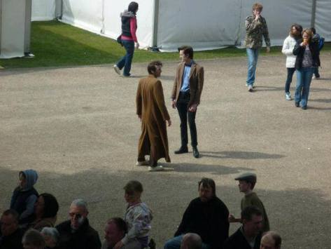 Matt Holden and Matt Elliott as the Tenth and Eleventh Doctor