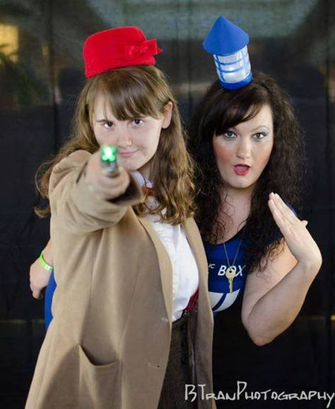Cosplayers: Tonya Lee Pickens and Allison Carey Characters: Eleventh Doctor and Tardis