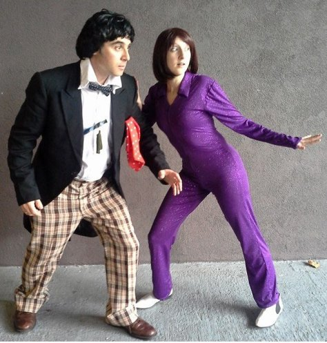 Cosplayers: Shawn Levy and Cosmic Claire Andrew Characters: Second Doctor and Zoe