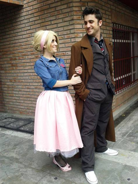 Cosplayers: Pablo Arcadia and Ana Bertola Characters: Tenth Doctor and Rose Tyler