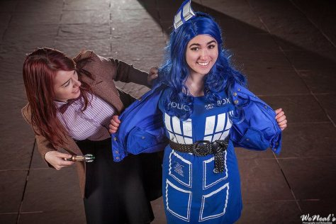 Eleventh Doctor by Kanami Cosplay Tardis by  MagykTrix Cosplay