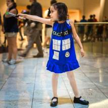 Faye Valentine Hellein as The Tardis