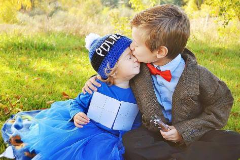 Submitted by: Sophie Ryckman Characters: Eleventh Doctor and Tardis  This might be the cutest picture we've ever seen