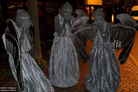 "Characters: Weeping Angels Photo By: Robert Ashburn  ""Don't Blink"""