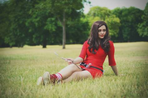"Cosplayer: Helnns Cosplay Character: Oswin Oswald Episode: Asylum of the Daleks Photo: Tascha Dearing/Tascha Dearing Art  ""Oswin Oswald. Junior Entertainment Manager, Starship Alaska. Current status: crashed and shipwrecked somewhere..."""