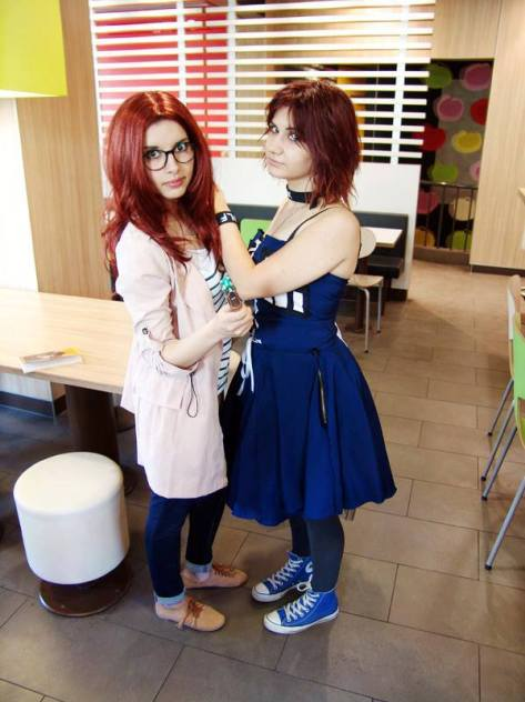 Cosplayers: Neda Valcheva and Desita Shtereva Characters: Amy Pond and Tardis Photo location: McDonalds...