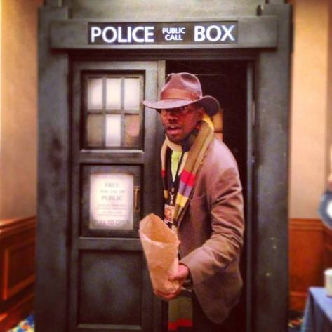 "Cosplayer: Ashford Wright Character: Fourth Doctor Taken at: Space City Con Houston  ""Would you like a jelly baby?"""