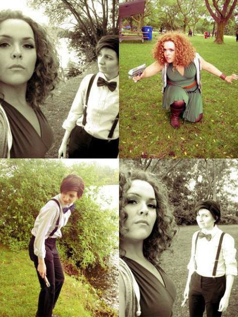 "Cosplayers: Emma Lee & Chrissy Avocado Characters: Eleventh Doctor and River Song  ""Geronimo"""