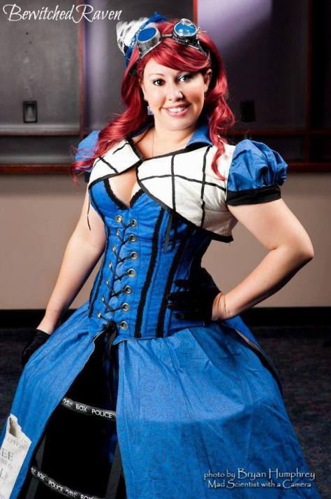 Cosplayer: BewitchedRaven's Cosplay Character: The Tardis Outfit: Steampunk Tardis Photo: Bryan Humphrey: Mad Scientist with a Camera