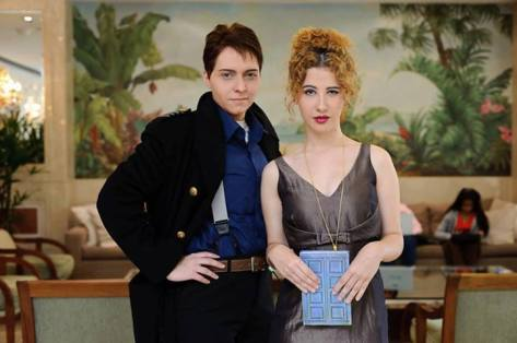 Cosplayers: Aino Andrômeda and Nina D'antonio Jack Harkness and River Song