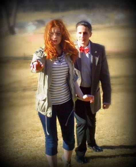 Cosplayers: Amy Pond cosplayer/Kristin Williams and Ryan C Characters: Amy Pond and Eleventh Doctor Episode: The Angels Take Manhattan