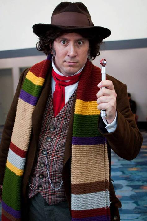 "Cosplayer: Andrew Elkins Character: Fourth Doctor  ""You may be a doctor. But I'm the Doctor. The definite article, you might say"""