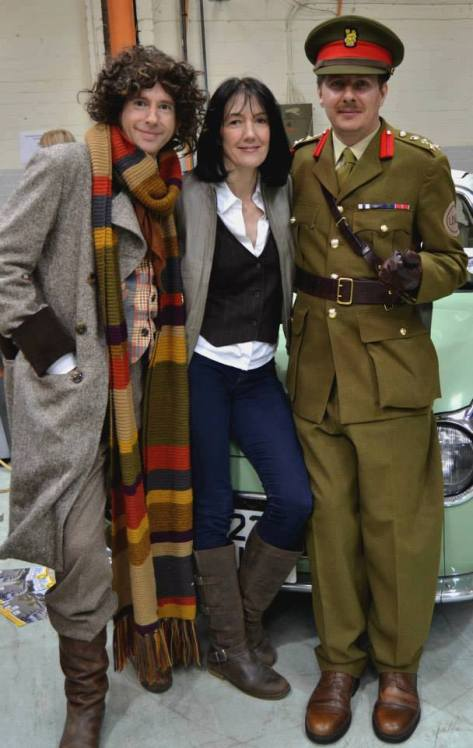 Cosplayers: The Fourth Doctor Travels, UNIT HQ: Brigadier Lethbridge-Stewart and Wendy Seymour Characters: Fourth Doctor, Brigadier and Sarah Jane Smith