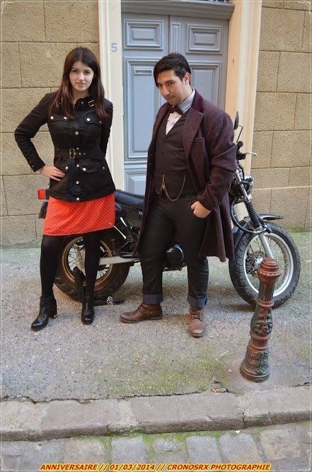 Cosplayers: The Impossible Leaf - Cosplay and Maiden Hamsi Character: Clara Oswald and Eleventh Doctor