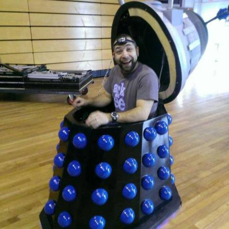 "Cosplayer: Sam Rendell Character: Dalek (Raymond)  ""Inside every Dalek there is a mutated, seething ball of hatred.....................or a hot, splinter-riddled cosplayer!"""