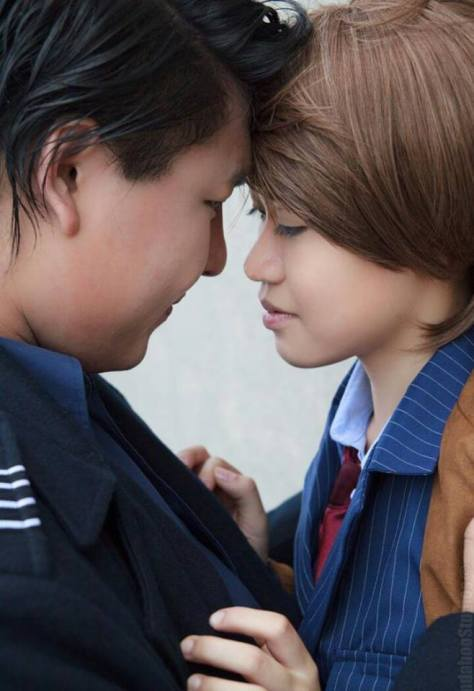 Cosplayers: Jeииy LeeDoctor and Frasier Talbert Characters: Captain Jack Harkness & Tenth Doctor Photo taken by: Billy Aoki