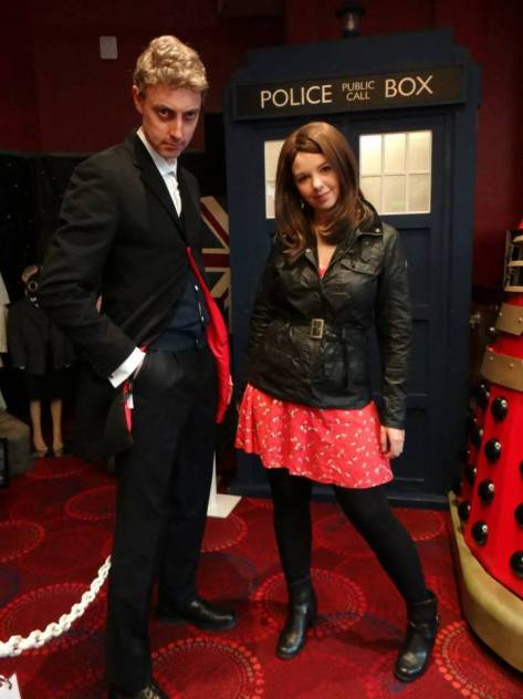 Cosplayers: Richard Ashton and Liz Adnitt Characters: Twelfth Doctor and Clara Oswald