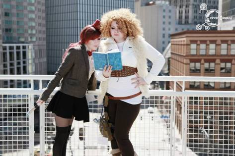 Cosplayers: Ely Renae & Sarah Moon Cosplays - Circle Cosplay Characters: Eleventh Doctor and River Song Reccomended by: Cosplay Nation