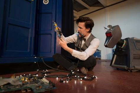 "Cosplayer: Matt Elliott, 11th Doctor / Matt Smith Lookalike Character: Eleventh Doctor Photo by: Monster Photography  ""Now what does this bit do again..."""