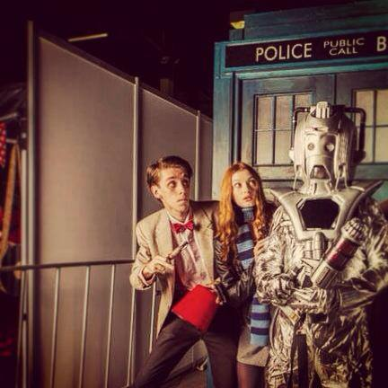 Cosplayers: Liam Mcleod, Brisbane's 11th Doctor and Australian Pond-Doctor Who Cosplayer Characters: Eleventh Doctor, Amy Pond and Cyberman