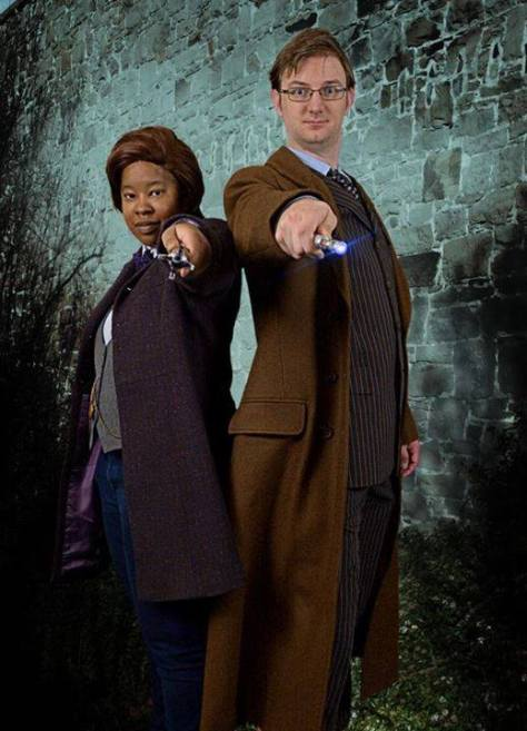 Cosplayers: Brian Weir and Lisa Williams-Weir Characters: Tenth Doctor and Eleventh Doctor