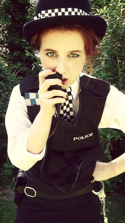 """Cosplayer: Hayley Smith - Amy Pond Cosplayer Character: Amy Pond  """"Sarge, it's me again. Hurry it up. This guy knows something about Amelia Pond."""""""