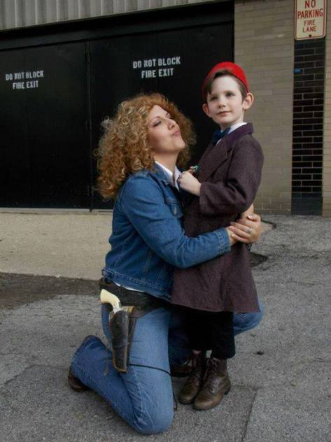 Cosplayers: Kat Winegard and The Little Doctor Characters: River Song and Eleventh Doctor