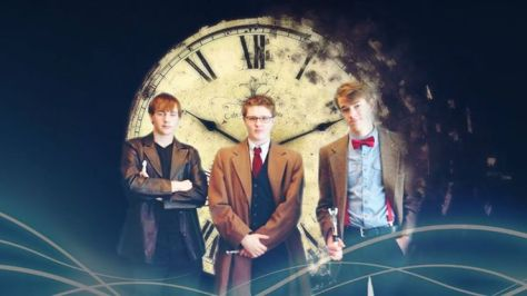 Cosplayers: Micah Van Sickle, Landon Walsh and Ben Chapman Characters: Ninth Doctor, Tenth Doctor and Eleventh Doctor
