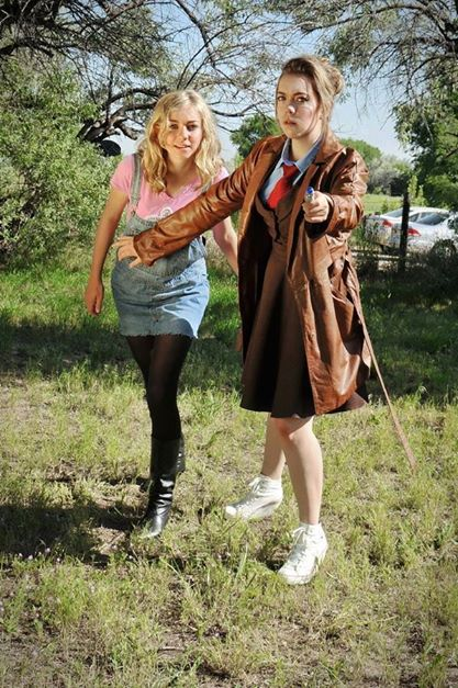 Cosplayers: Abby Dean and Sarah Dean Characters: Rose Tyler and Tenth Doctor