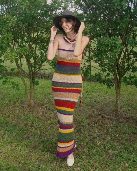 Submited by: Rebel Among The Stars Studios Outfit: Fourth Doctor Scarf Dress  Genius Idea!