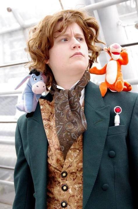 Cosplayer: Norah (bodyprintmachine.tumblr.com) Character: The Eighth Doctor, with his partial personas from Big Finish's Caerdroia (Tigger and Eeyore). Picture: Frida Lizine